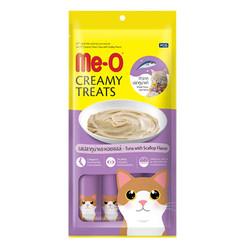 ME-O - ME-O Creamy Treats Tuna with Scallop - Ton Balıklı Deniz Taraklı Krem Kedi Ödülü 60g/12 li