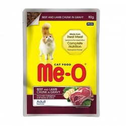 ME-O - ME-O Dana ve Kuzu Etli Kedi Yaşmama 80gr