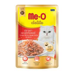 ME-O - ME-O Delite Tuna with Crab Stick - Ton Balıklı Yengeçli Yetişkin Kedi Maması 70g
