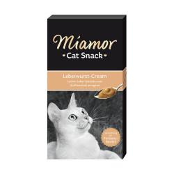 Miamor - Miamor Cat Cream Leberwurst-Cream Ciğerli Kedi Ödülü 6x15g