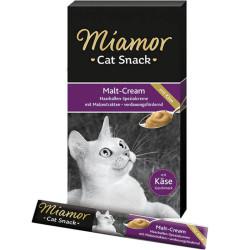 Miamor - Miamor Cat Cream Malt-Kase Malt Mayası ve Peynirli Kedi Ödülü 6x15g