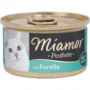 Miamor - Miamor Pastate Alabalıklı Kedi Konservesi 85g