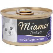 Miamor - Miamor Pastate Yürekli Kedi Konservesi 85g