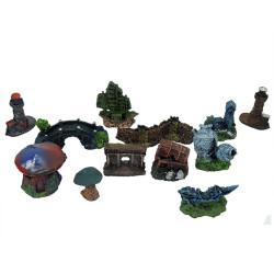 Fatih-Pet - Mini Akvaryum Dekor Seti 12 li