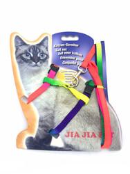 Chakie - MMD2110 Gökkuşağı Göğüs Kedi Tasması