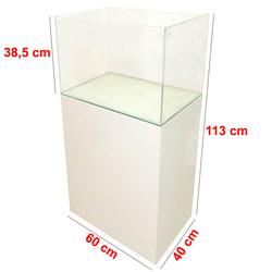 Mobilyalı Akvaryum Beyaz Küçük 60x40x40 cm - Thumbnail