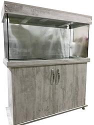 Fatih-Pet - Mobilyalı Akvaryum Antik Beyaz Taçlı 100x40x50 cm