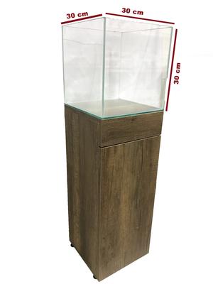 Mobilyalı Akvaryum Barok 30x30x30 cm