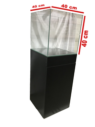 Fatih-Pet - Mobilyalı Akvaryum Siyah 40x40x40 cm