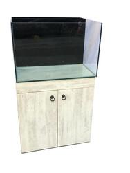 Fatih-Pet - Mobilyalı Arkası Sumplı Akvaryum Antik Beyaz 70x55x45 cm