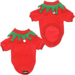 Fatih-Pet - Noel Sweatshirt Palyaço Kırmızı 5 li
