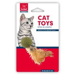 Nunbell - Nunbell Kedi Oyuncağı Catnip Top Tüylü