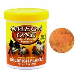 Omega One - Omega One Goldfish Flakes Pul Yem 28g