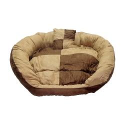 Pet Care - Oxford Taban Yastıklı Kahve/2 Renkli Yatak 60 cm.