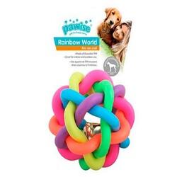 Pawise - Pawise 14669 Rainbow World - Renkli Örgü Top Köpek Oyuncak 10,5cm
