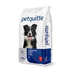 Petquitte - Petquitte Kuzu Etli Pirinçli Yetişkin Küçük Orta Irk Köpek Maması 3kg