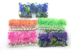 Fatih-Pet - Plastik Bitki Karışık Renkli 10lu 8-10cm