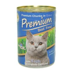 Premium - Premium Fish - Balıklı Kedi Konservesi 410g/24 lü