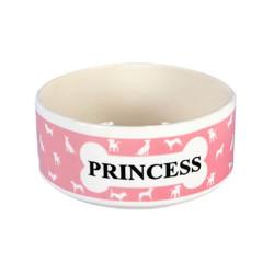 TVR - Princess Pembe Seramik Küçük Mama Kabı