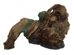 Fatih-Pet - QG-068 Yosunlu Ağaç Kabuğu Akvaryum Dekoru 20,5x13,5x14,5 cm