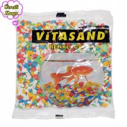Vitasand - REF-155 Karışık Renkli Fanus Çakılı 350 gr 30 lu Paket