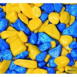 Vitasand - REF-180 Sarı Lacivert Fanus Çakılı 350g (15 li Paket)