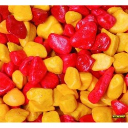 Vitasand - REF-181 Sarı Kırmızı Fanus Çakılı 350g (15 li Paket)