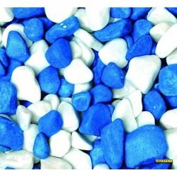 Vitasand - REF-186 Mavi Beyaz Fanus Çakılı 350g (15 li Paket)