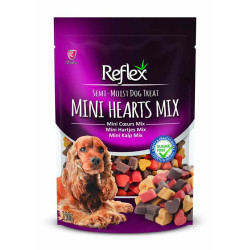 Reflex - Reflex Mini Heart Mix - Karışık Mini Renkli Kalp Şeklinde Köpek Ödülü 150g