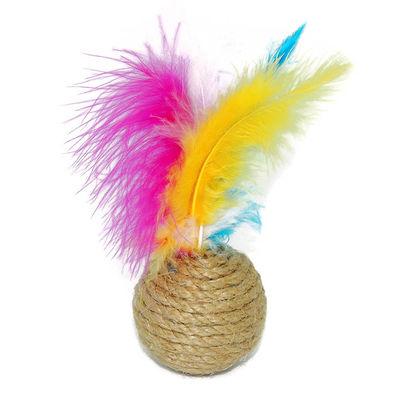 Renkli Tüylü Kedi Oyun Topu