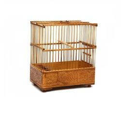 Fatih-Pet - Saka Kafesi Bambu İşlemeli 17,5x29x31,5 cm