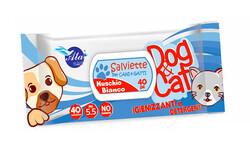 Salviette - Salviette Beyaz Misk Islak Mendil 40lı