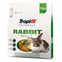 Tropifit - Tropifit Premium Plus Rabbit Adult - Tavşan Yemi 750g