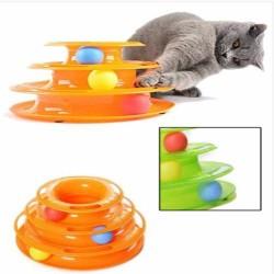 Little Friends - Üç Katlı Toplu Yuvarlak Kedi Oyuncağı