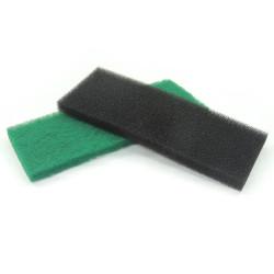 Xinyou - XY-1810 Siyah&Yeşil-Mavi Çift Filtre Süngeri 32x12x2 cm