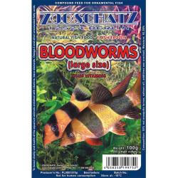 ZOOSCHATZ - Zooschatz Bloodworms Large - Dondurulmuş Kan Kurdu Büyük 100g